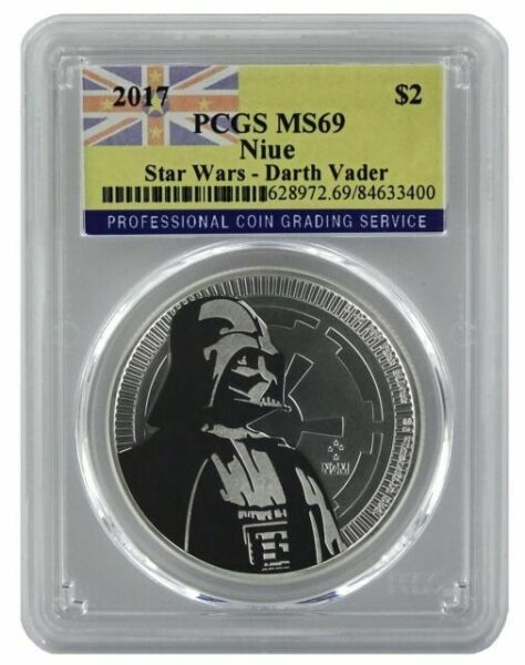First Strike 2018 Niue 1oz Silver Star Wars Darth Vader Coin PCGS MS69