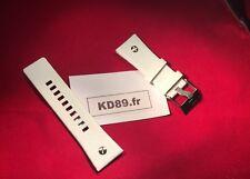 Dz 7194 Bracelet blanc cuir Strap Band Avec Boucle Diesel