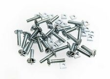 SQUARE NUT ZP ZINC PLATED 8MM M8 X 80MM 4 x ROOFING BOLTS CROSS HEAD
