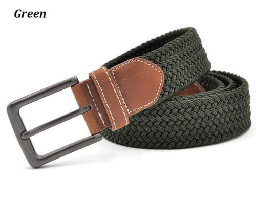 Mens Kaven Peter Hand Woven Top Quality Braided Belt Olive Green Msrp$39.95