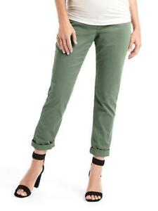 31abab6fb298c Image is loading NWT-GAP-2018-MATERNITY-GIRLFRIEND-CHINOS-FULL-CUCUMBER-