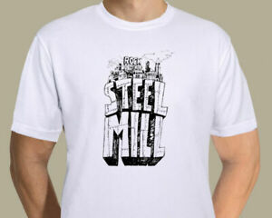 Bruce-Springsteen-Steel-Mill-logo-on-T-shirt