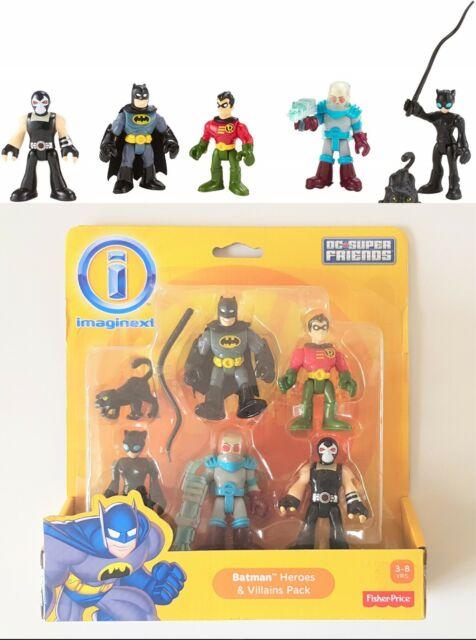 Imaginext Batman Heroes & Villains Pack Batman Robin Catwoman Mr. Freeze & Bane