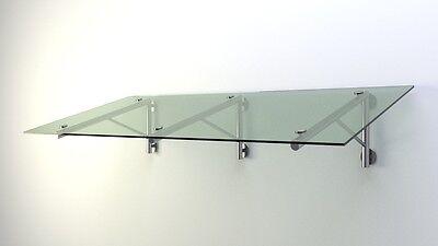 FäHig Glas Vordach Haustür Edelstahl Vsg 14mm 2,1 X 1,1m Eine Lange Historische Stellung Haben Heimwerker