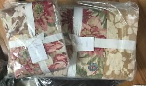 Pottery-Barn-Carolina-Quilt-Queen-Floral-Patchwork-Cottage-New-No-Shams
