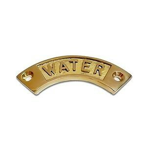 boat narrowboat yacht. solid brass water sign//label