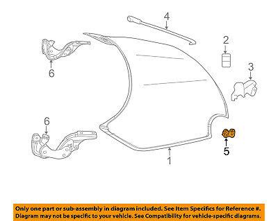 FIAT OEM 12-17 500 Hood-Support Rod Bushing 68070288AA