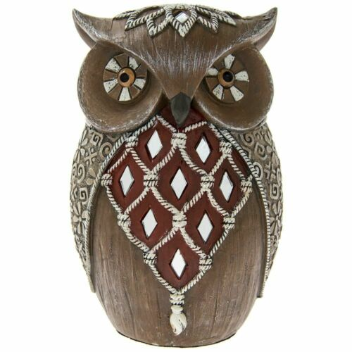 Medium Artistic OWL Ornament Figurine Bird Home Decor Art Deco Sculpture Gift
