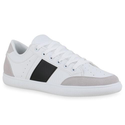 Herren Sneaker Low Schnürer Flache Sohle Bequeme Freizeit Schuhe 834761 Trendy