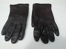 CARSON PICARSON PIRIE SCOTT LADIES BROWN LEATHER  GLOVES ACRYLIC LINING SIZE 6.5
