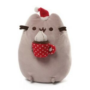 GUND CAT - SANTA PUSHEEN - HOT CHOCOLATE - COCOA - CHRISTMAS SNACKABLE