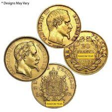 20 Francs French Gold Napoleon III AGW .1867 oz Avg Circ (1852-1870, Random