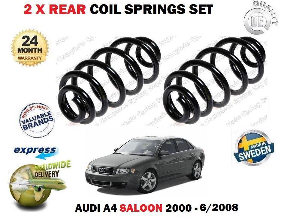 Für Audi A4 + Quattro Tdi TFSI Turbo 2000-6 2008 Neu 2x Fahrwerksfeder Hinten