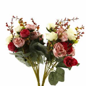 Home-2-Bouquet-42-Head-Artifical-Rose-Silk-Flower-Bouquet-Home-Wedding-Decor