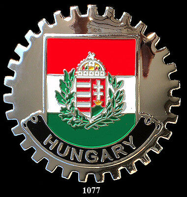 CAR  GRILLE  BADGES FLAG HUNGARY