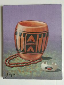 David-Seger-Navajo-Artist-Southwestern-Original-Oil-Painting-Native-American