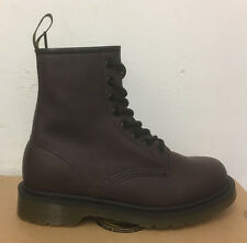DR. MARTENS 1460  OXBLOOD ELK  LEATHER  BOOTS SIZE UK 10
