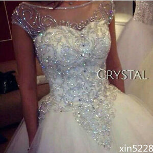 Image Is Loading Bridal Ball Gown Wedding Dresses Dazzling Princess Luxury
