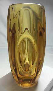 Sklo-Union-039-Lens-039-Vase-By-Rudolf-Schrotter-Rosice-Glassworks-Czechoslovakia