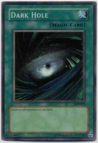 Yugioh! MP Dark Hole - SDK-022 - Common - Unlimited Edition Moderately Played, E