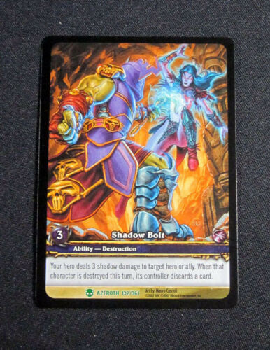 Ability Uncommon World of Warcraft WoW TCG Shadow Bolt Azeroth Promo 25