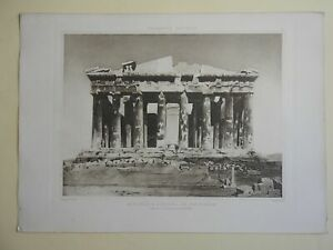 Classical-Architecture-The-Parthenon-Ruins-lovely-1890s-large-print-Lemercier