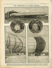 Fire Incendie Bombes Paris Shrapnells Machine Gun Mitrailleuse Zeppelin 1916 WWI