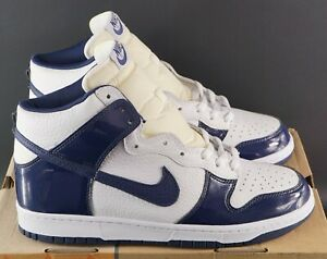 OG-2003-Nike-Dunk-Alto-Bianco-Midnight-Navy-UK-11-US-12-EU-46-VINTAGE-DS-JORDAN-AIR