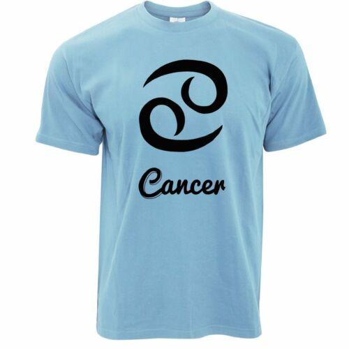 Horoscope T Shirt Cancer Zodiac Star Sign Birthday Fortune Telling Magic