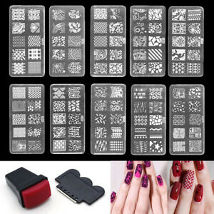Rubber-Plastic-Manicure-Gel-Polish-Nail-Art-Scraper-Stamp-Acrylic-Template-Tool