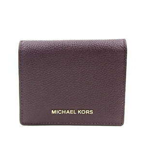 8643667a33c607 Image is loading Michael-Kors-Mercer-Leather-Flap-Card-Case-NWOT-