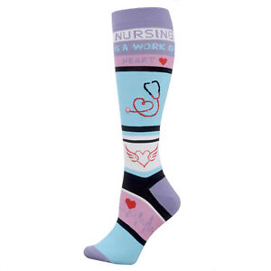Valencia Med Nurse Compression Sock, Nursing is a Work of Heart and other prints
