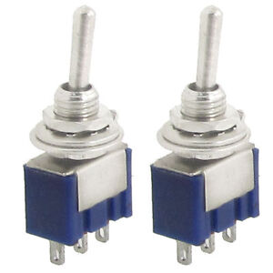 5 Stück Miniatur Kippschalter MTS-102 1-polig EIN//EIN UM ohne Mittelstellung
