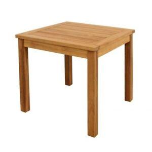 Détails sur Table Table Basse Table de Jardin Table D\'Appoint Bois Acacia  Carré 50 X 50 CM