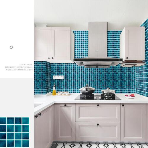Kitchen Bathroom Tile Mosaic Stickers Self-adhesive Waterproof 10//30x Wall Decor