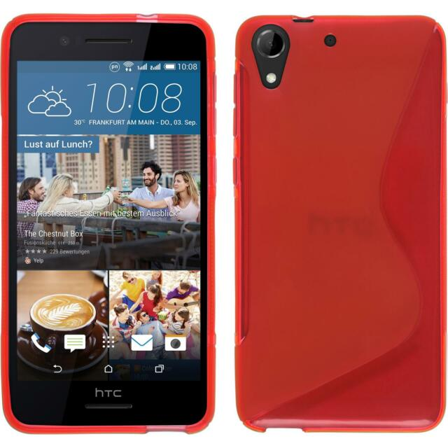Silicone Case for HTC Desire 728 S-Style red + protective foils
