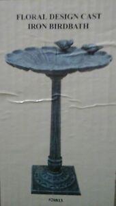 Image Is Loading Cast Iron Bird Bath Home Garden Yard