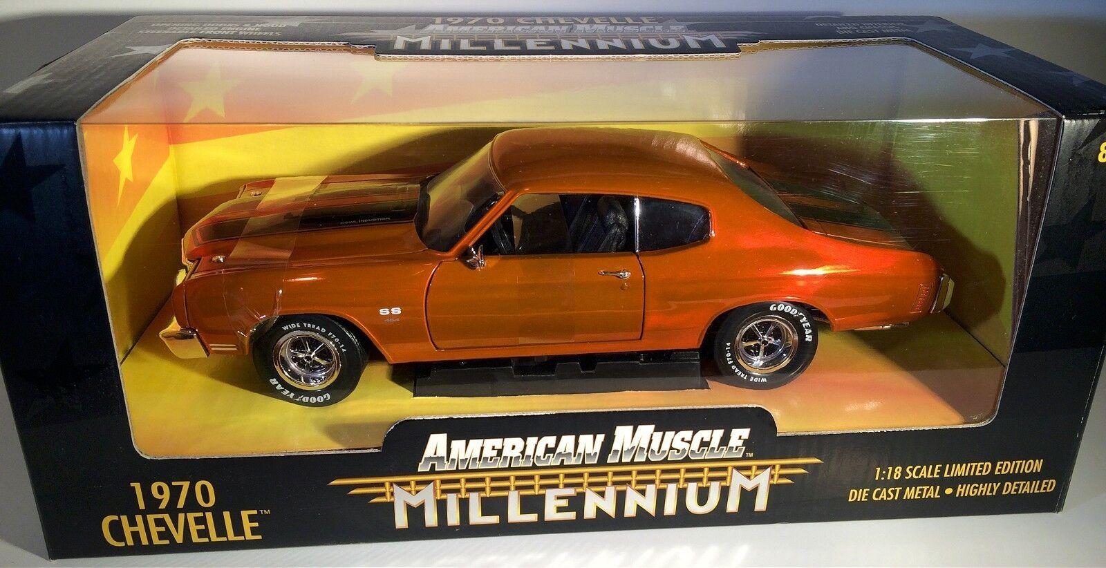 alta calidad y envío rápido Ertl 1 18 1970 Chevy Chevelle Milenio Naranja  32242 32242 32242 Sellado American Muscle 70  tomamos a los clientes como nuestro dios