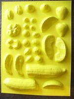 Candle Mold Fruits Nuts & Candy Banana Berry Fruit Drop Peach Strawberry Pecan