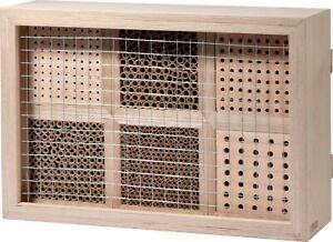 Insektenhotel Bienenhaus Insektenhaus Wildbienen Papierröhrchen Brutkasten Holz