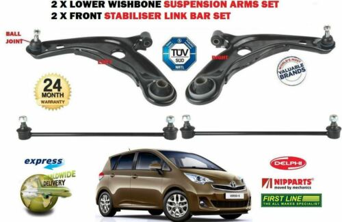 FOR TOYOTA VERSO S 2010-/> 2 X FRONT LOWER WISHBONE SUSPENSION ARM 2X LINK BARS