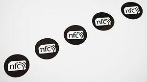 5-Black-PET-NFC-Sticker-NXP-NTAG213-30mm-Tag-Samsung-Nokia-Sony-LG-HTC-Windows