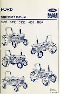 New-Holland-Ford-Tractor-Operator-039-s-Manual-3230-3430-3930-4630-4830-Digital