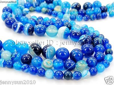 ~ 40 Beads Sold by 15 Strands UNENHANCEDUNTREATED 10mm Natural Faceted Glossy Blue Agate Round Beads -  Semi-Precious Gemstone