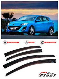 For-Mazda-3-HB-2-Gen-2009-2013-Window-Deflector-Visor-Vent-Rain-Wind-Guard