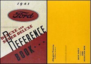 1941 Ford Deluxe Voiture Et Super Manuel Du Propriétaire Avec Enveloppe Xzxjapat-07215649-375919204