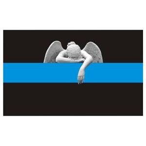 Angel-Crying-Thin-Blue-Line-Police-Sticker-Decal-198-Made-in-U-S-A
