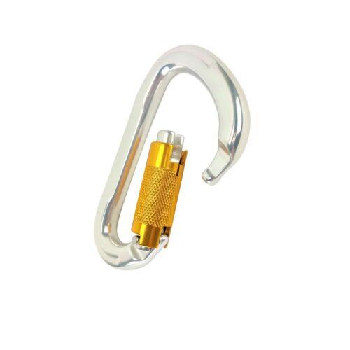 Heavy Duty Climbing Screwgate Locking Aluminum D Ring Carabiner Hammock Clip