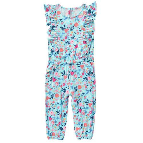 Neuf avec étiquettes Crazy 8 Bébé Fille Motif Floral Bleu rayonne volants Ange Sunsuit Combinaison