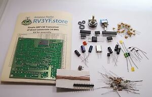 Details about Simple QRP CW Transceiver of direct conversion 14 MHz  KIT  for assembly